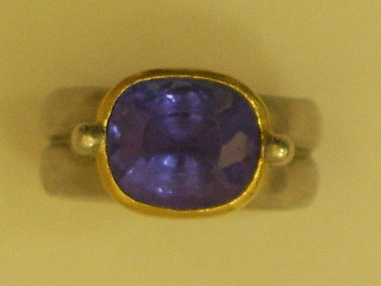 Large Tanzanite, Set in Platinum