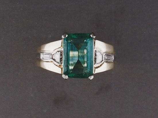 Emerald, Diamond Gold Ring
