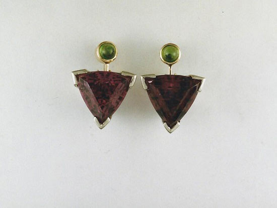 Amy and Peridot earrings