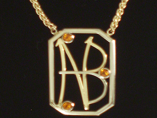 18K Yellow Gold & Citrine Initial Necklace